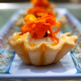 Peach and Rosewater Curd Tartlets