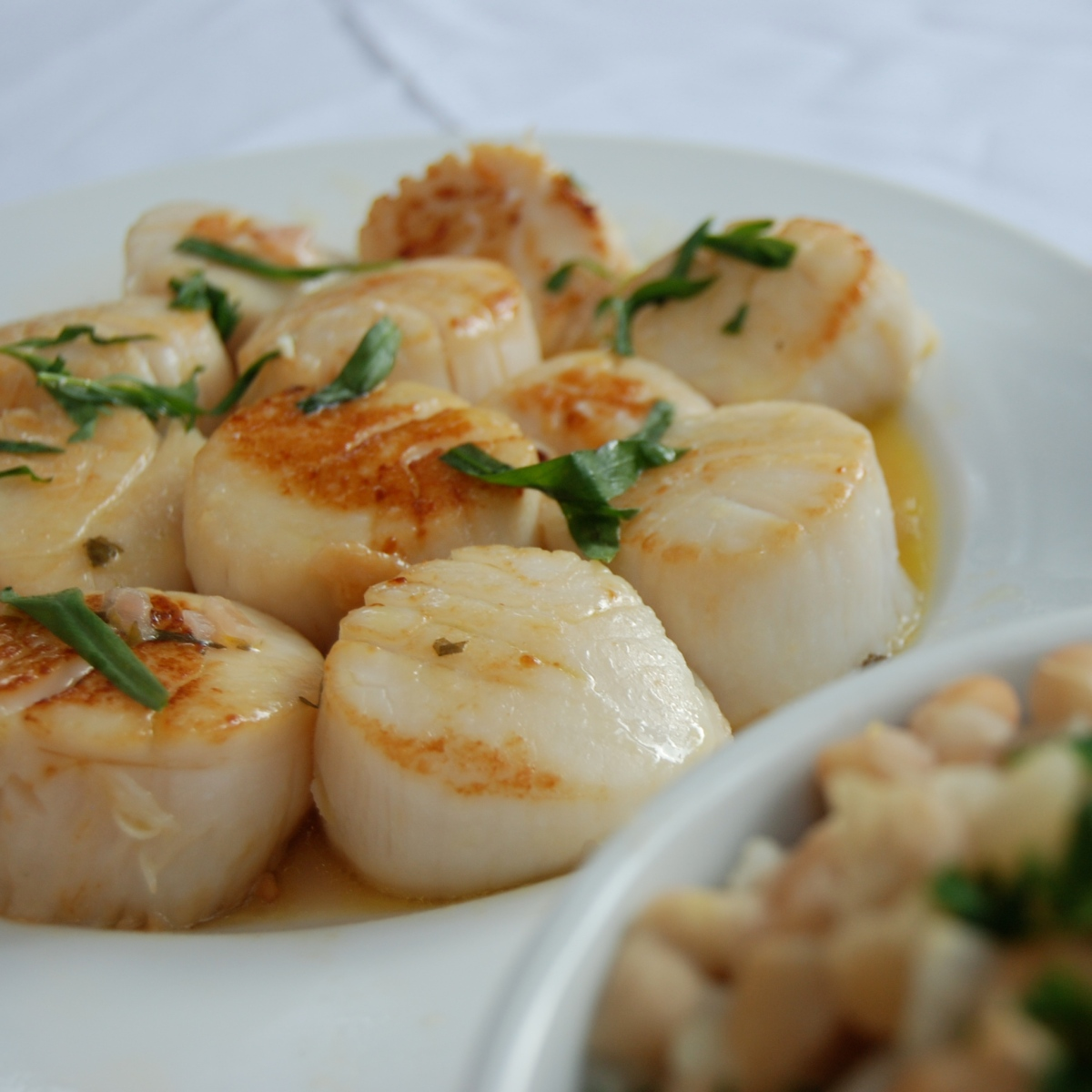 Seared Scallops with Tarragon Burre Blanc